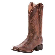 Ariat Women's Round Up Rio Western Boot - Distressed Brown