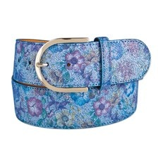 The Tailored Sportsman Flower Power Leather Belt