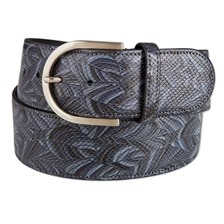 The Tailored Sportsman Grey Matter Leather Belt