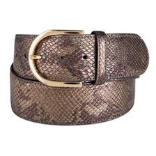 The Tailored Sportsman Bronze Metal Leather Belt