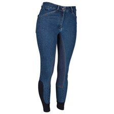 Piper Denim Mid-rise Breeches by SmartPak - Full Seat
