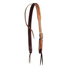 Wildfire Saddlery Leather Cowboy Knot Slip Ear Headstall - Golden
