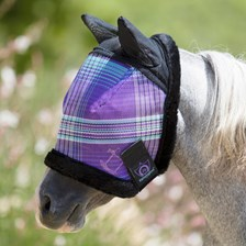 Kensington Pony Fly Mask with Ears and Fleece Trim