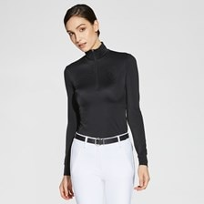 Asmar Dahlia Rib Knit 1/4 Zip Performance Top
