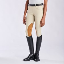 Hadley Show Mid-rise Side Zip Breeches by SmartPak - Knee Patch