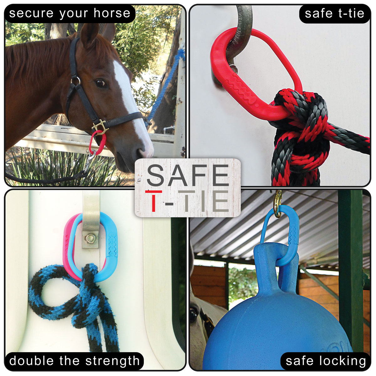 Horse Equine Tie Ring Safety Quick Release