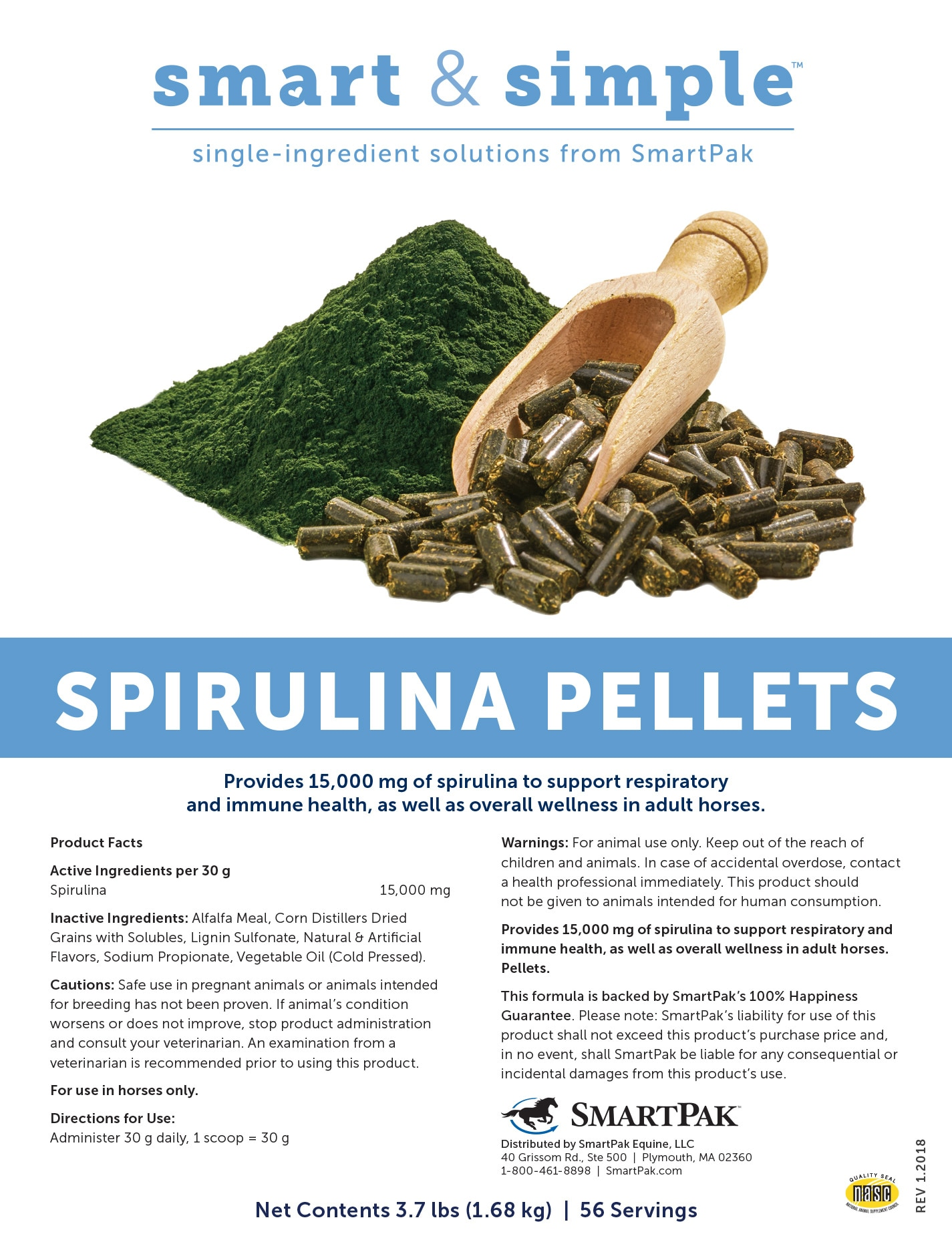 Smart Simple Spirulina Pellets Formerly By Natures Way Multivitamin With 200 Tablets Smartpak